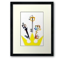 Kingdom Hearts Keyblade Crown Framed Print