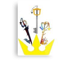 Kingdom Hearts Keyblade Crown Metal Print