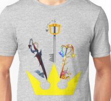 Kingdom Hearts Keyblade Crown Unisex T-Shirt