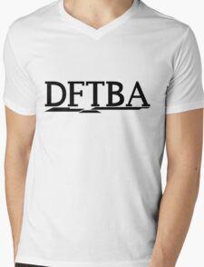 DFTBA (Black) Mens V-Neck T-Shirt