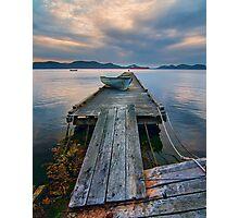 Saturna Island Dock Photographic Print