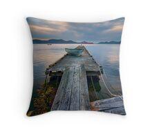 Saturna Island Dock Throw Pillow