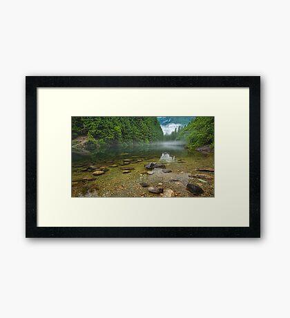 Alouette Lake Clearity Framed Print