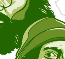 Cheech and Chong green Sticker
