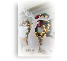 Crystal Christmas Stag Canvas Print