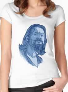 The Dude blue Women's Fitted Scoop T-Shirt