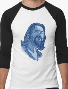 The Dude blue Men's Baseball ¾ T-Shirt