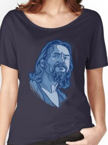 The Dude blue Women's Relaxed Fit T-Shirt