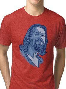 The Dude blue Tri-blend T-Shirt