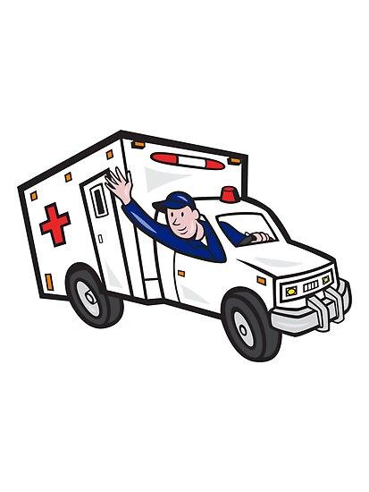 Ambulance Vehicle Emergency Medical Technician Paramedic  by patrimonio