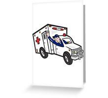 Ambulance Vehicle Emergency Medical Technician Paramedic  Greeting Card