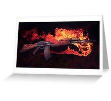 CSGO Gun Series | AK-47 FIRE Greeting Card