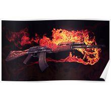 CSGO Elemental Series   AK-47 FIRE Poster