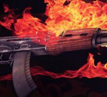 CSGO Gun Series | AK-47 FIRE Sticker