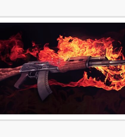 CSGO Gun Series | AK-47 FIRE Sticker