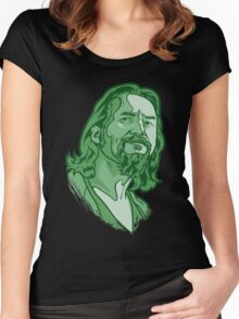 The Dude green Women's Fitted Scoop T-Shirt