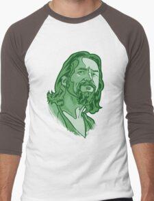 The Dude green Men's Baseball ¾ T-Shirt