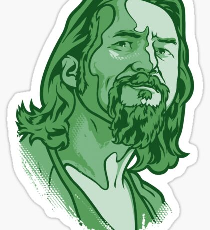 The Dude green Sticker