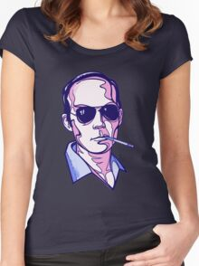 Hunter S. Thompson violet Women's Fitted Scoop T-Shirt