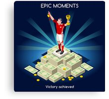 Football Champion Epic Moments Canvas Print