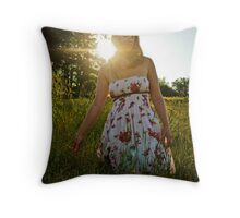 Meadow Flare Throw Pillow
