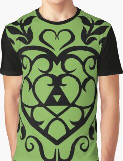 Legend of Zelda Inspired Heart Container Graphic T-Shirt