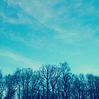 Brilliant Blue ( Trees with Arms Raised ) by emiliewho
