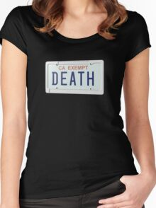 Government Plates - Death Grips Women's Fitted Scoop T-Shirt