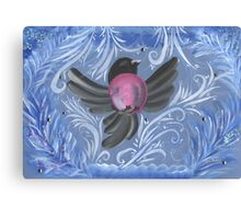Bird bullfinch gouache Canvas Print
