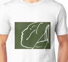 Abstact Female Head -(060914)- Digital artwork/iPad: Zen Brush App Unisex T-Shirt