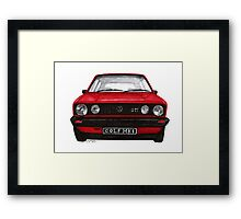Golf Mk1 Framed Print