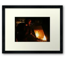 The Hotter the Forge The Stronger the Sword Framed Print