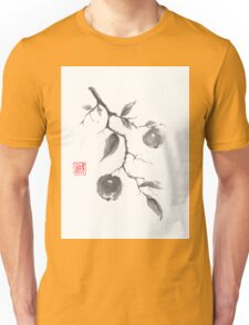 Fruits of the fall sumi-e painting Unisex T-Shirt