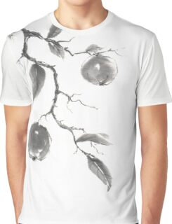 Fruits of the fall sumi-e painting Graphic T-Shirt