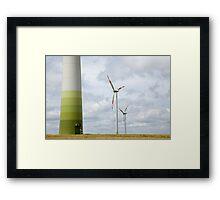 Wind farm in Germany Framed Print