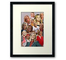 Leslie Knope Tile Framed Print