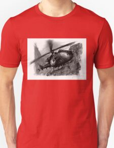 Gazelle Helicopter Ink Drawing T-Shirt