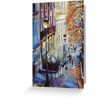 Paris Monmartr Steps Greeting Card
