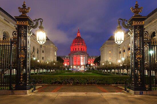 San Francisco Night Scene by Nickolay Stanev