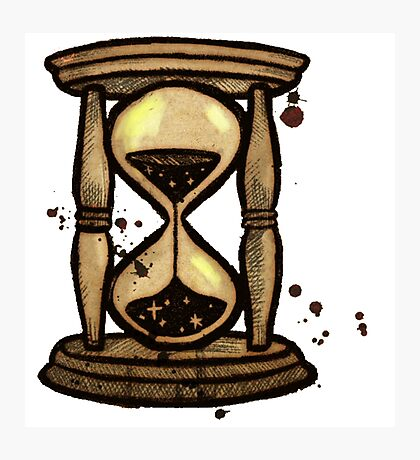 Endcard Hourglass Gravity Falls Photographic Print