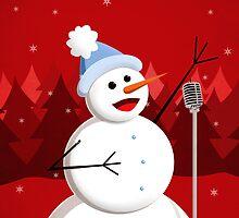 Happy Singing Snowman Christmas  by Boriana Giormova