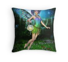 Faerie Glimmers in the Night Throw Pillow