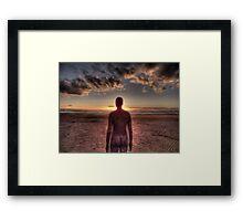 Anthony Gormley Crosby Beach Framed Print