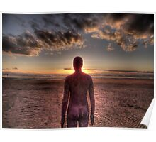 Anthony Gormley Crosby Beach Poster