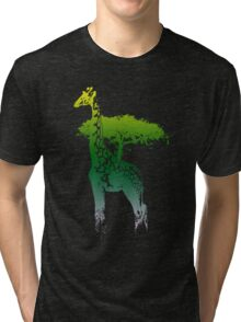 africa giraffe colored Tri-blend T-Shirt