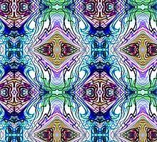 Neon Pinstripes 1 B by Karl Jacobson
