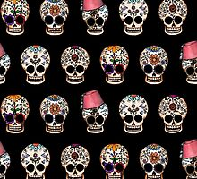 Sugar Skull 5 Design Repeat by Amy-Elyse Neer