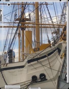 HMS GANNETT 1878 PHONE/I PAD CASES ART by Shoshonan