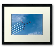Red Arrows At The Southport Air Show Framed Print