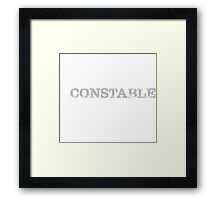 Smart Good Looking Constable Framed Print